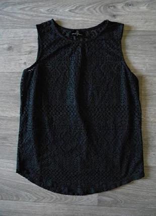 Кружевная , ажурная майка блуза