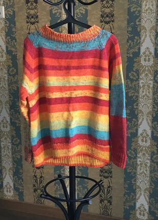 Вязаный теплый свитер оверсайз