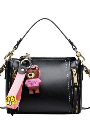 Классная небольшая черная сумка саквояж