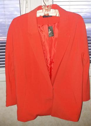 Удлиненный пиджак жакет блейзер
