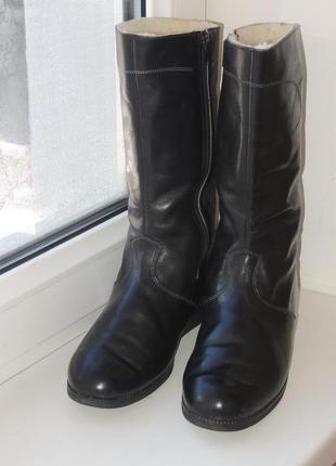 Кожаные теплые зимние сапоги р.38-39 (25 см)