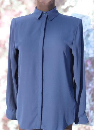 Синяя шифоновая блуза asos
