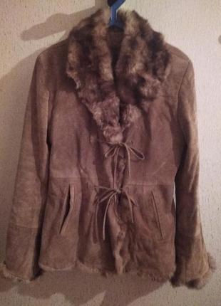 Куртка замшевая с мехом на синтепоне