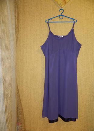 Платье фиолетовое changes на бретелях р. 56-58