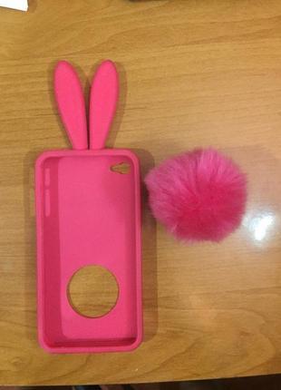 Ярко розовый чехол на iphone 4/iphone 4s