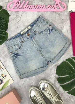 Джинсовые шорты с завышенной талией  sr1804136  top shop