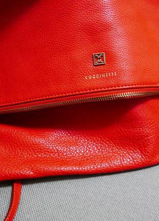 Кожаная сумка клатч coccinelle {оригинал}
