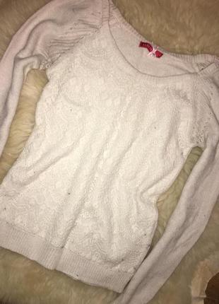 Милый ажурный свитерок мягенький и теплый