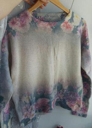 Цветочный свитер свитшот bershka