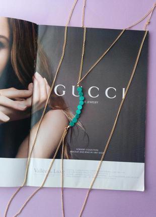 Колье цепочка ожерелье на платье как портупея тренд 2018