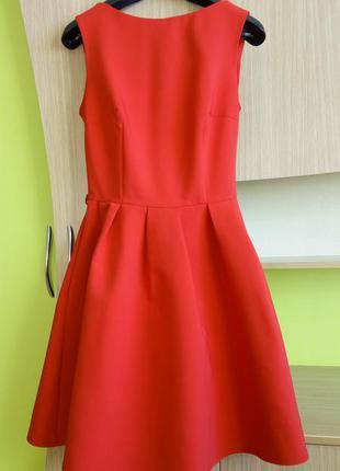 Вечернее, нарядное коктейльное платье пышная юбка