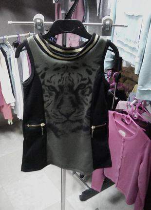Стильное нарядное платье с тигром на 3 года от punkidz франция