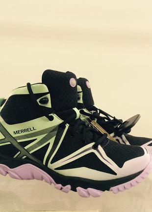 Merrell женские треккинговые ботинки на gore-tex р-37 стелька 24 см
