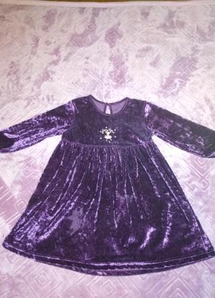 Бархатное платьице на девочку