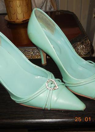 Туфли нежно-бирюзовые