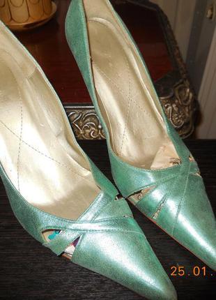 Туфли бирюза