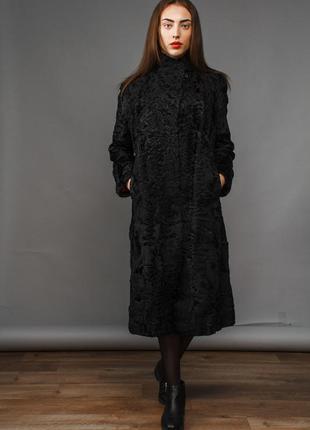 Пальто италия  хит 2018 стильное пальто из аукционной персидской каракульчи хит 2018г.