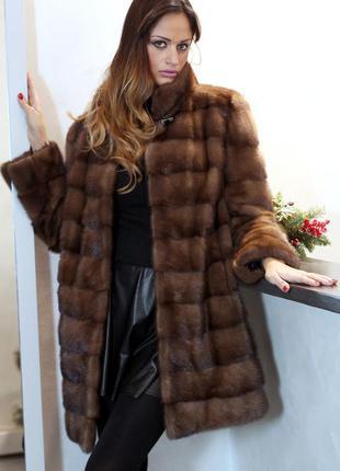 Восхитительная новая норковая шуба италия модель 2018г. saga furs 46-48р.