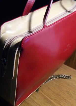 Кожаная итальянская сумка vera pelle.