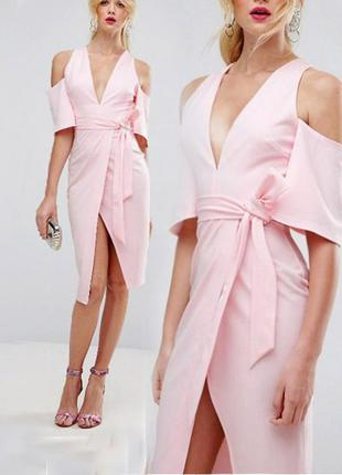 Платье asos миди на запах