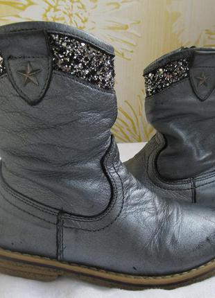 Кожаные сапоги ботинки на девочку весна- осень 24/25.