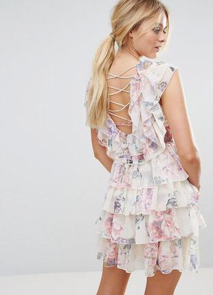 Y.a.s потрясающе красивое женственное платье цветы воланы
