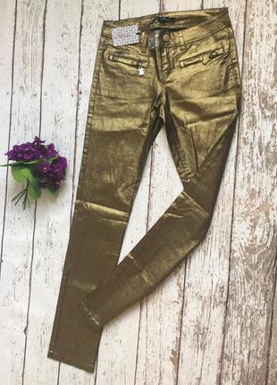 Фирменные золотистые джинсы 👖 kira plastinina.