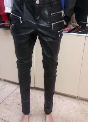 Кожанные штаны mohito