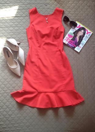 Акція! безкоштовна доставка до 23.01 червона сукня zara розмір хс