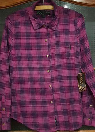 Новая рубашка в клетку vans .s.купить