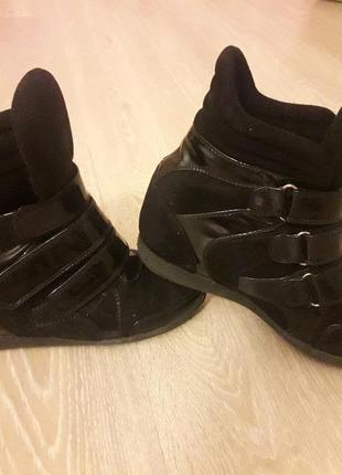 Туфли сникерсы на платформе