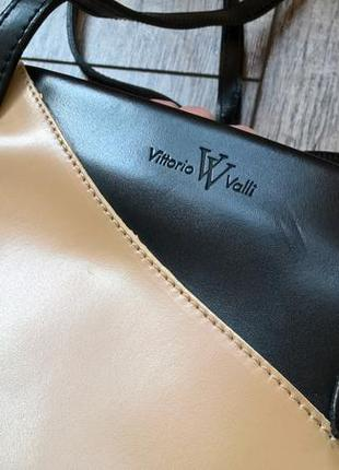 Дизайнерская/брендовая сумка от vittorio valli (италия)/кожа натур2 фото