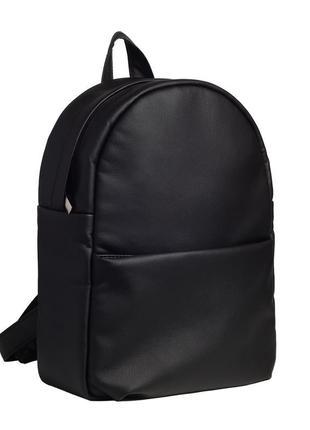 Новый женский черный рюкзак удобный в носке