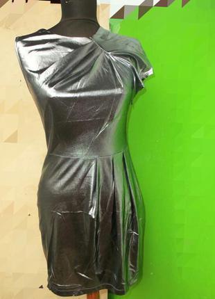 Платье мини по фигуре цвета металлик / серебристое nelly trend s,m