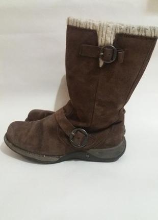Ботинки cat натуральный замш размер 38