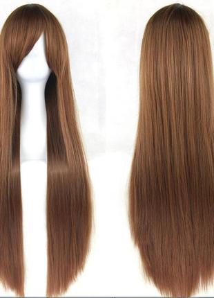 Парик светло-коричневый прямой ровный длинный 3556