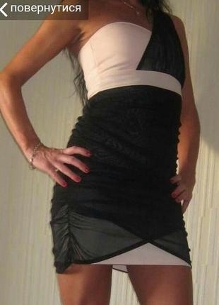 Платье вечернее коктейльное на одно плечо
