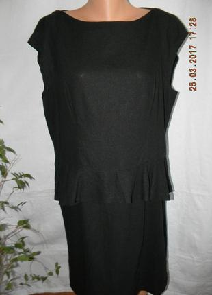 Черное платье лен большого размера f&f