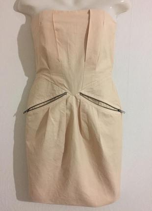 Платье-футляр кремовое 38 selected femme