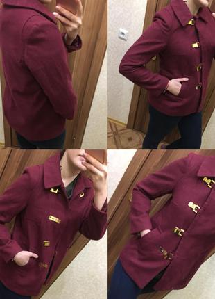 Повседневно классический нарядный пиджак пальто тренд шерсть драп h&m