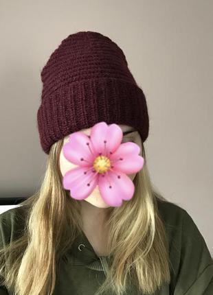 Мохеровая шапка h&m