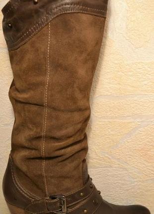 """Р.40-40,5 англия,""""barratts"""",100% натуральная кожа! стильные,супер комфортные сапоги"""