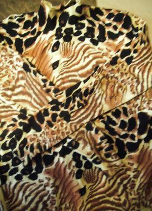 Леопардовый свитер джемпер кофта 44-48р