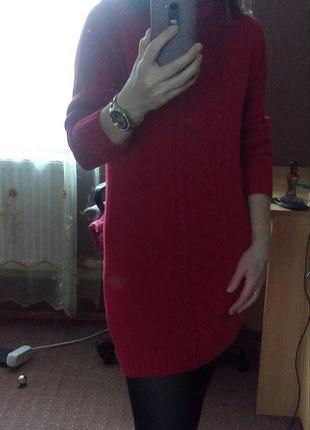 Теплое зимнее платье1 фото