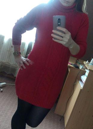Теплое зимнее платье2 фото