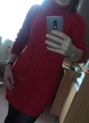 Теплое зимнее платье3 фото