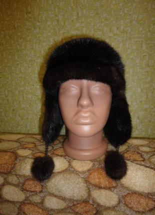 Стильная норковая шапка
