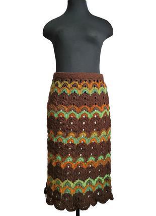 Шерстяная ажурная юбка макси мисони ☘️☘️☘️