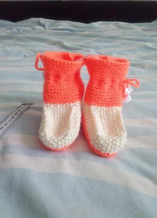 Вязаные пинетки  носочки