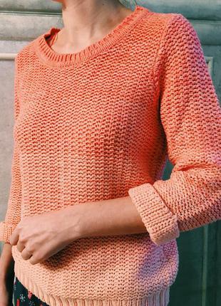 Милый персиковый свитер atmosphere1
